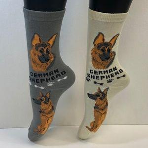 2 Pair Foozys Socks - German Shepherd
